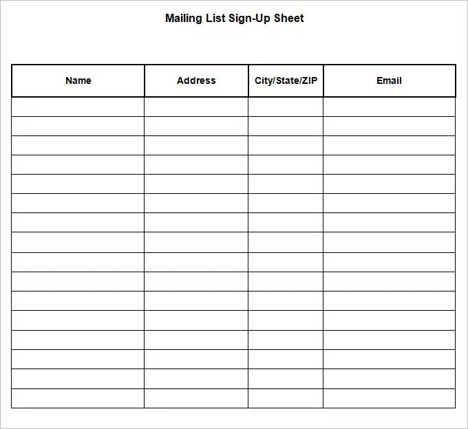 sign up sheet word - Goalgoodwinmetals - how to make a sign in sheet in word