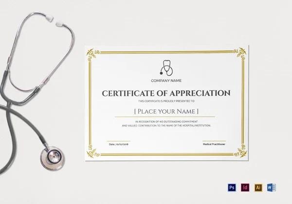 31+ Medical Certificate Templates - PDF, DOC Free  Premium Templates - certificate template doc