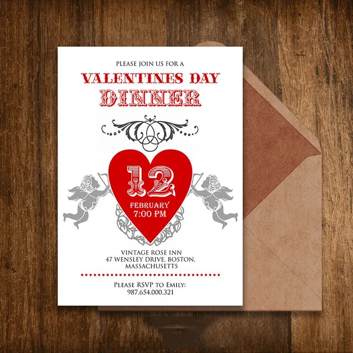 25+ Best Valentine Invitation Templates for 2015 Free  Premium - Free Printable Dinner Party Invitations