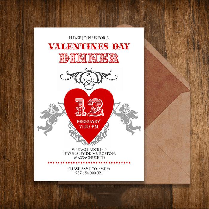 25+ Best Valentine Invitation Templates for 2015 Free  Premium - Free Printable Dinner Party Invitations