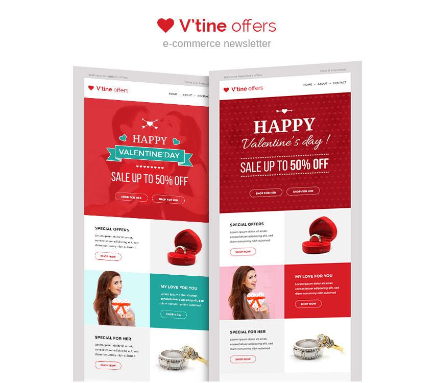 15+ Best Valentines Emails, Newsletter Templates Free  Premium
