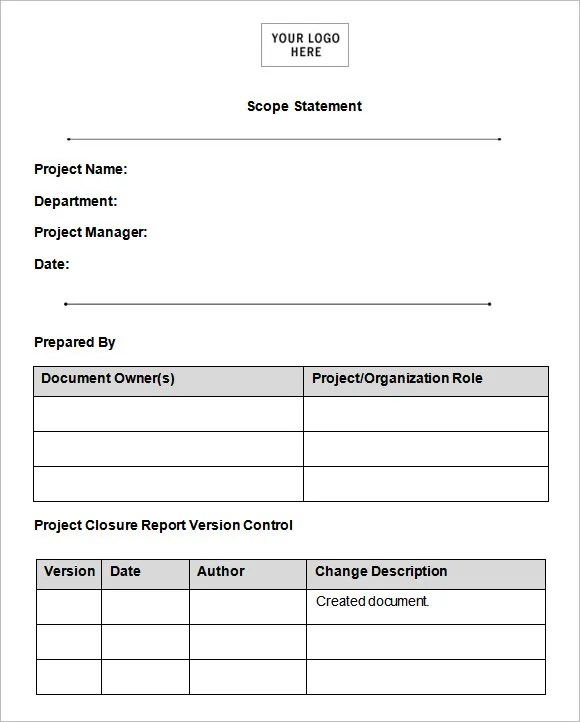 Scope of Work Template - 36+ Free Word, PDF Documents Download