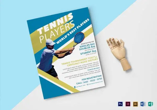 Sports Flyer Template - 33+ Free PSD, AI, Vector EPS Format Download - tennis flyers templates free