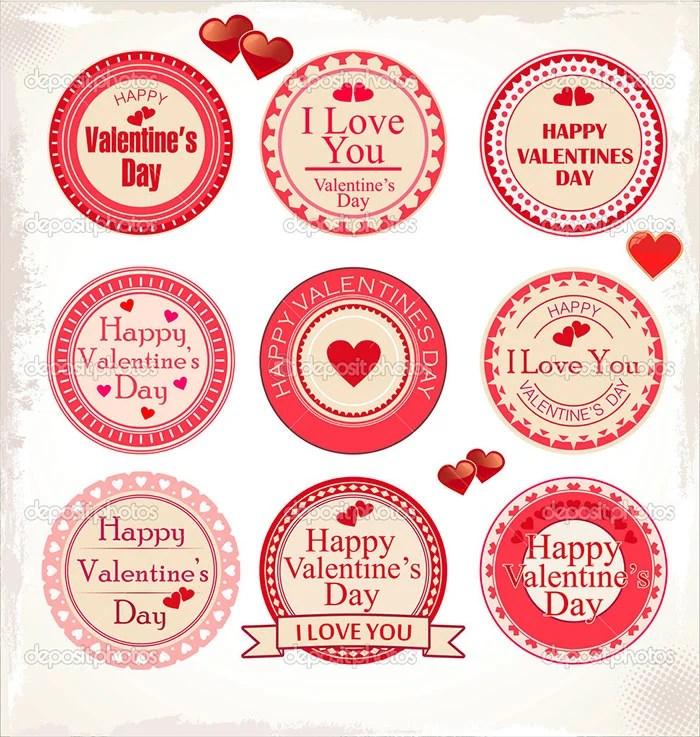 35+ Printable Valentines Labels  PSD Designs Free  Premium Templates