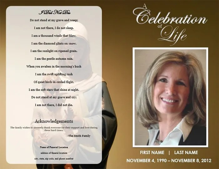 obituary program template - Boatjeremyeaton - free obituary program template