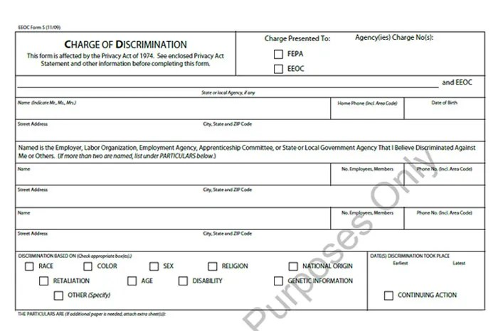 EEOC Complaint Form Templates 5+ Free Sample, Example Format Free