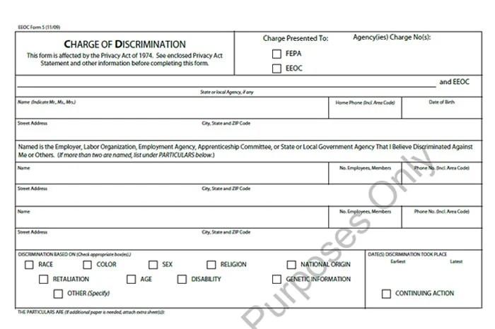 EEOC Complaint Form Templates 5+ Free Sample, Example Format Free - eeoc complaint form