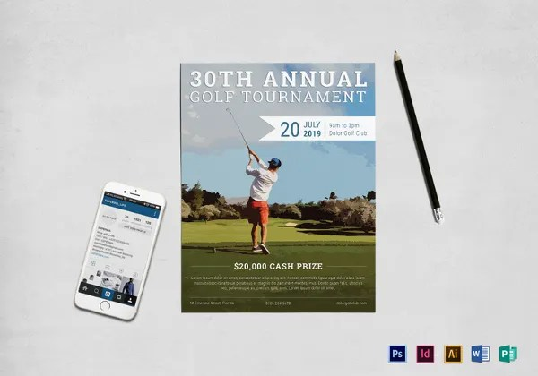 22+ Golf Flyer Templates - Free PSD, AI, EPS Format Download Free - golf tournament flyer template