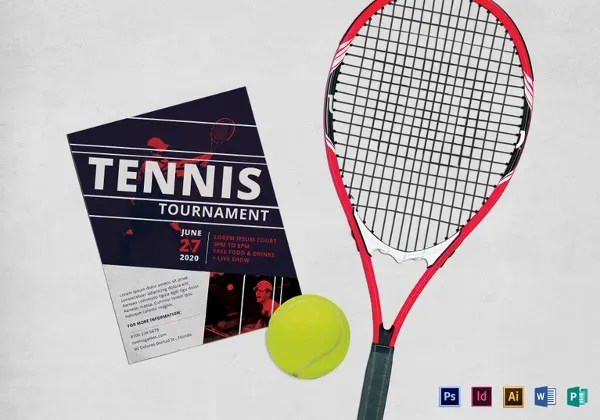 17+ Tennis Flyer Template - Free PSD, AI, Vector, EPS Format - tennis flyers templates free