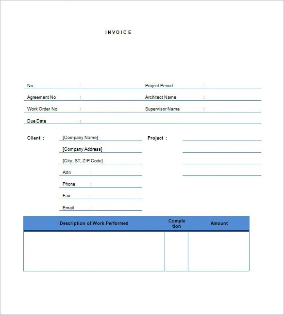 Free Contractor Invoice Templates Free  Premium Templates