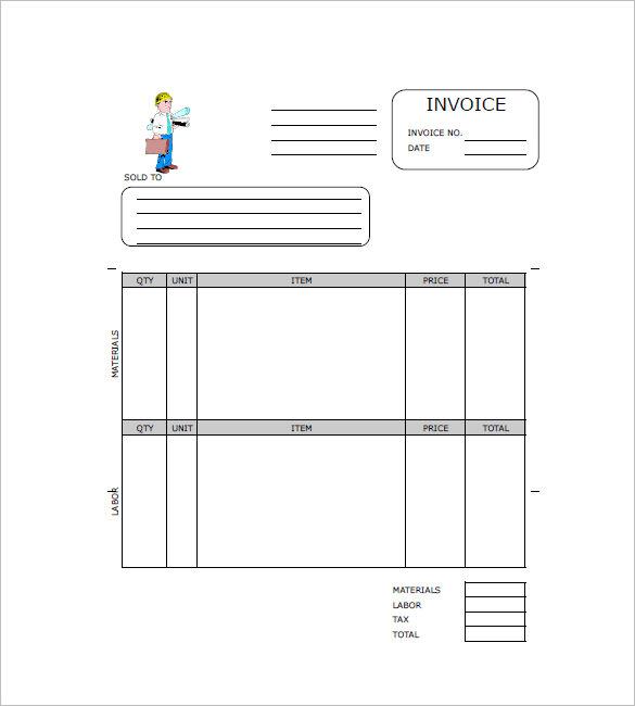 Contractor Invoices Cis Invoice Template Subcontractor From - Contractor Invoice Form