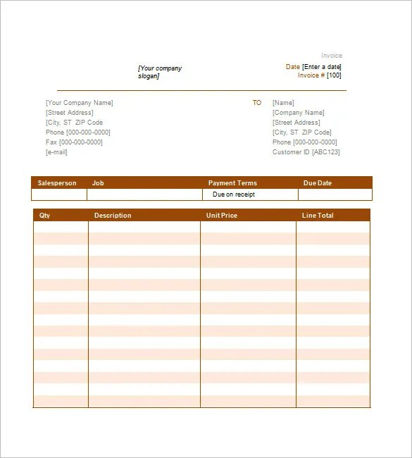 Service Invoice Templates \u2013 11+ Free Word, Excel, PDF Format