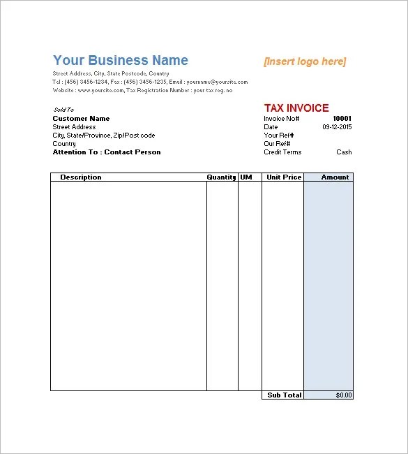 Service Invoice Templates \u2013 11+ Free Word, Excel, PDF Format - free downloadable invoices