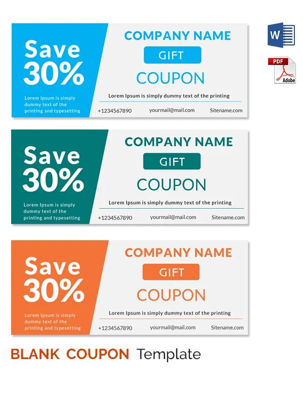word coupon template free - Idealvistalist - printable coupon templates free