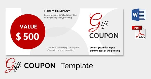 Free Coupon Template Word – Coupon Format