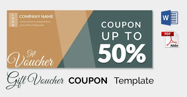 Discount coupon templates free / Blood milk coupon - coupon templates free