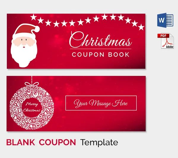 free printable coupon template blank