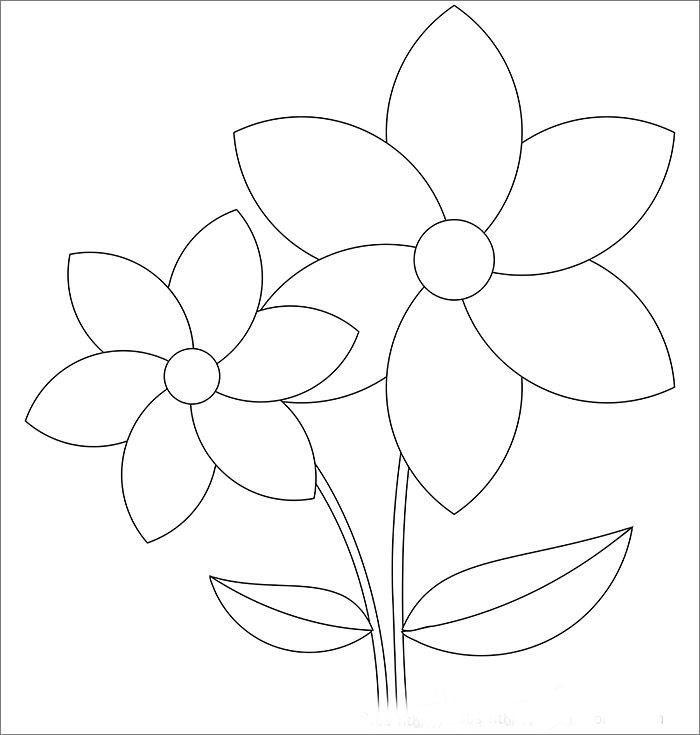 printable flower templates free - Ozilalmanoof