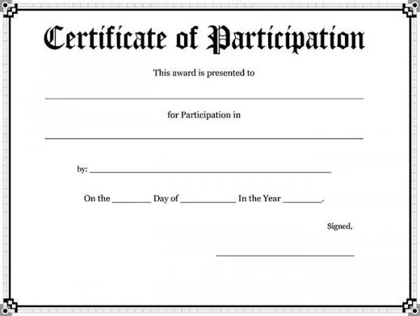 82+ Free Printable Certificate Template - Examples in PDF, Word - blank certificates templates free download