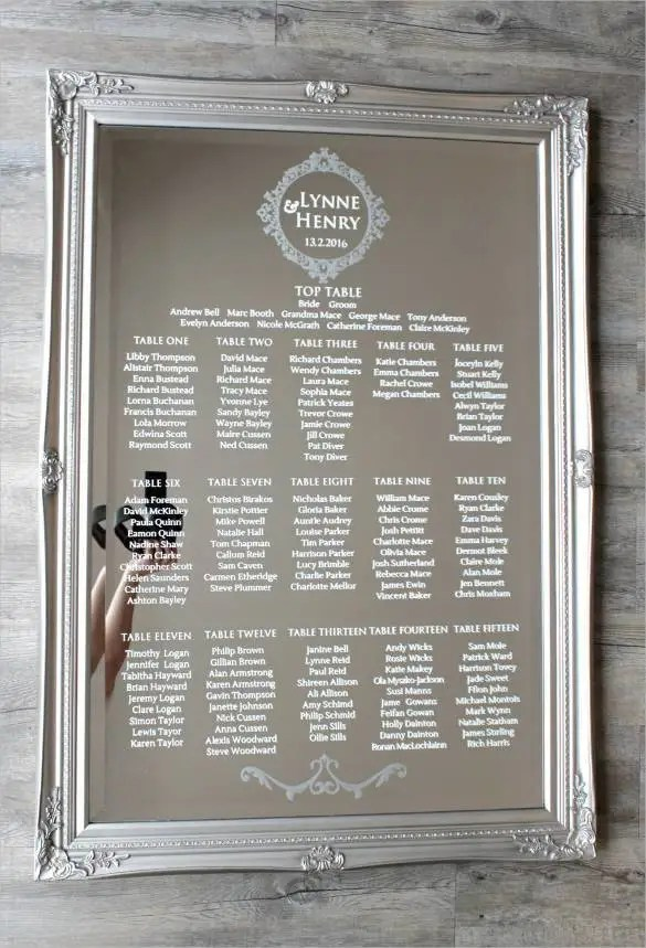 34+ Wedding Seating Chart Templates - PDF, DOC Free  Premium