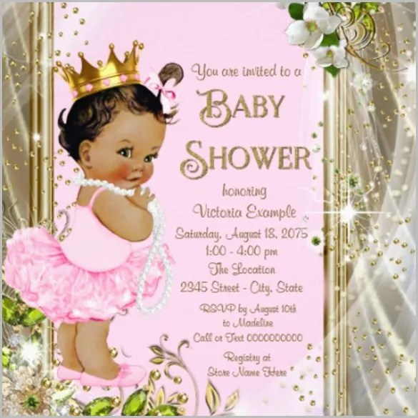 Baby Shower Invitation Template - 29+ Free PSD, Vector EPS, AI - Editable Baby Shower Invitations