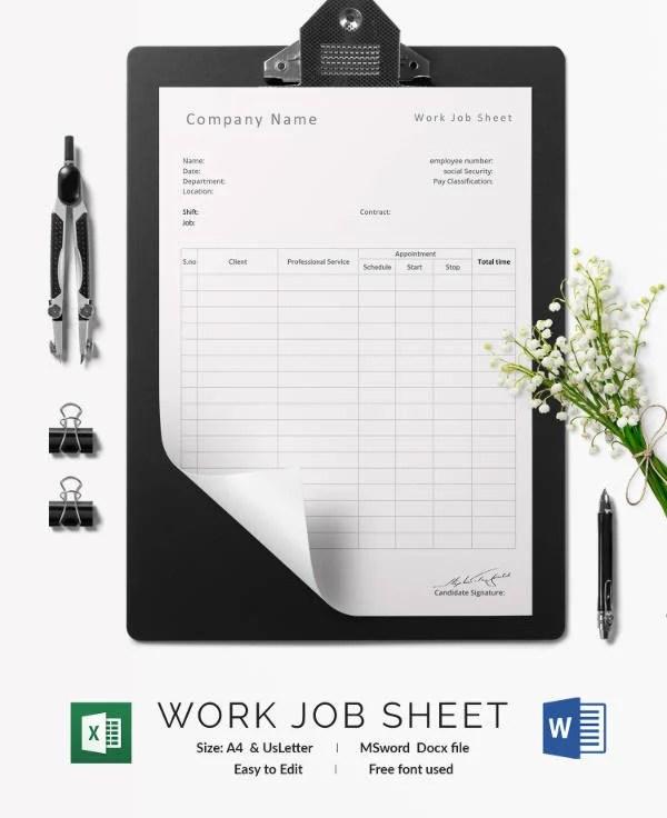 job sheet template free download – Job Sheet Template Free Download