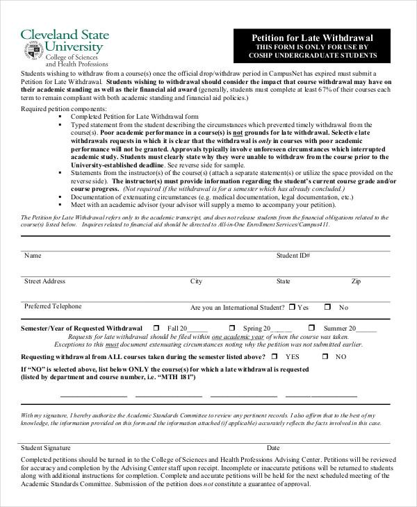 7+ Petition Templates - PDF, Word Free  Premium Templates