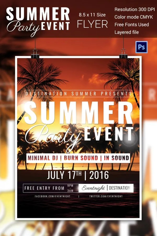 make event flyers online template