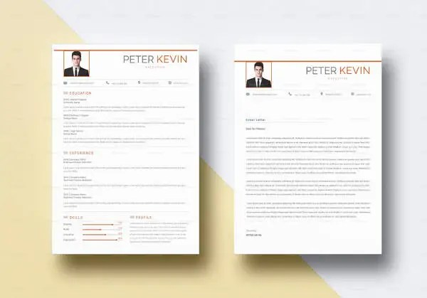 professional 3 page resume template cv cover letter a4 us letter