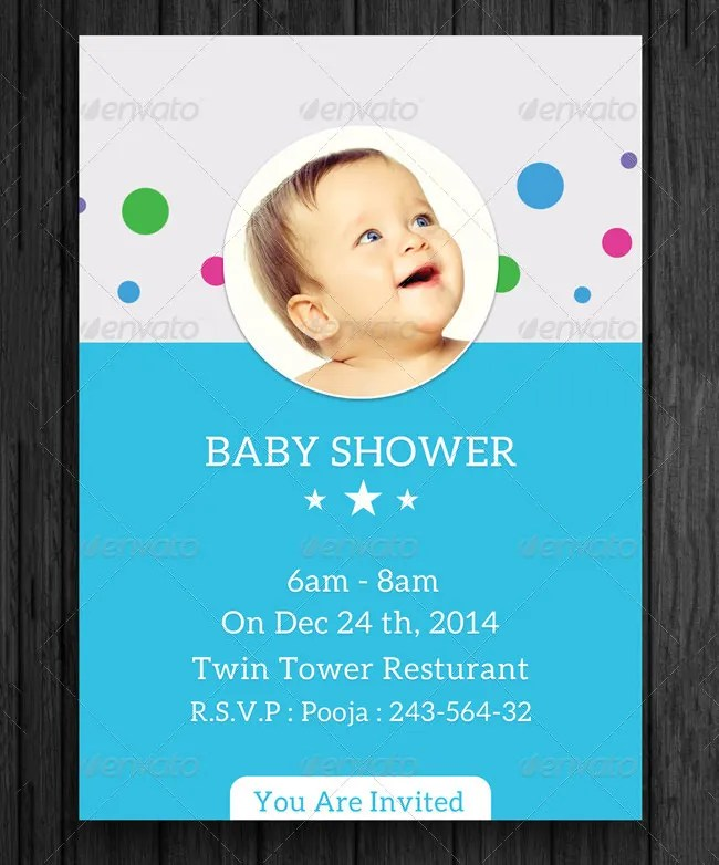 Baby Shower Invitation Template - 29+ Free PSD, Vector EPS, AI - Baby Shower Invitation Templates Word