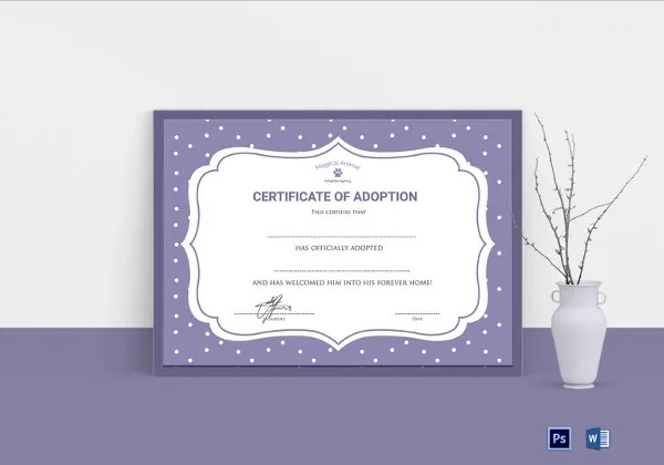 36+ Blank Certificate Template - Free PSD, Vector EPS, AI, Format - blank adoption certificate template