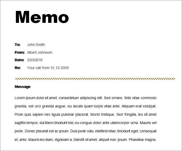 12+ Memo Templates - Free Sample, Example, Format Free  Premium