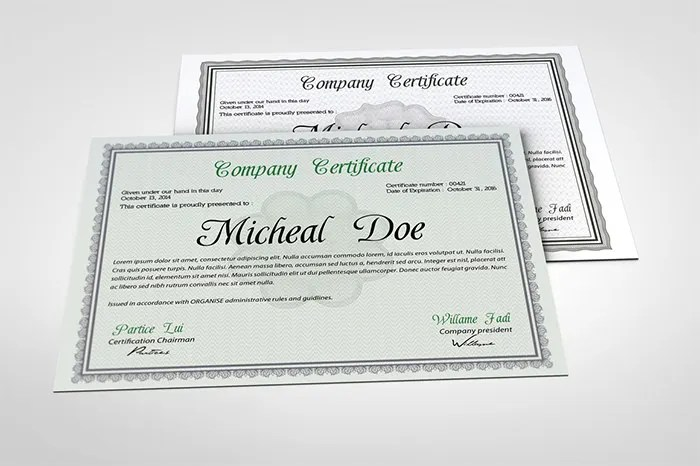 84+ PSD Certificate Templates - Free PSD Format Download Free - Graduation Certificate Paper