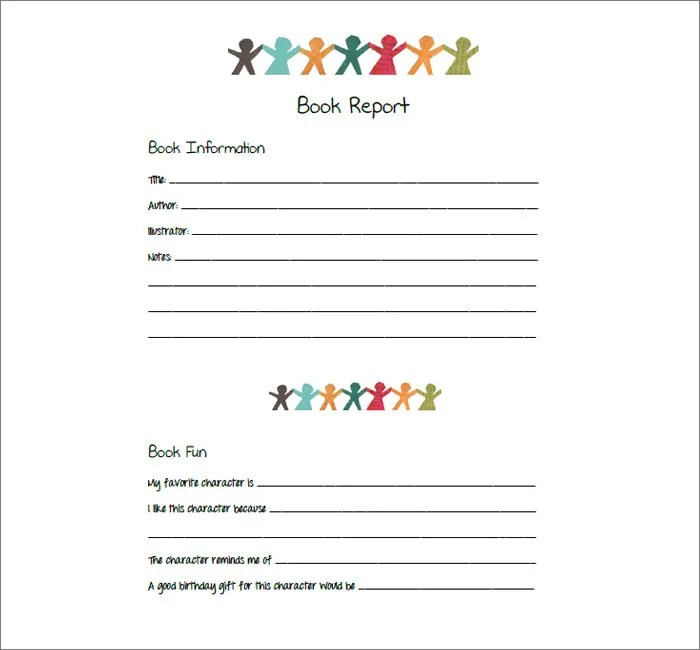 Book Report Template - 13+ Free Word, PDF Documents Download Free