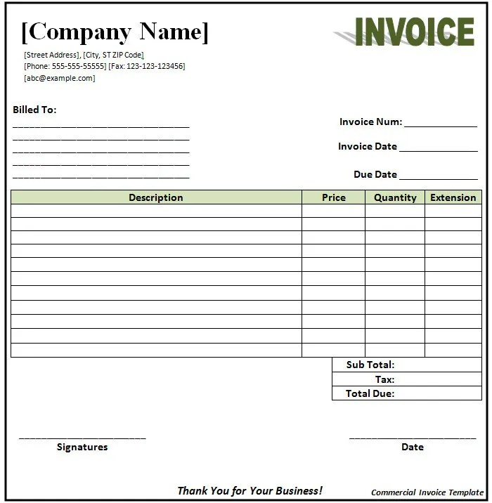 business invoice example – neverage, Simple invoice