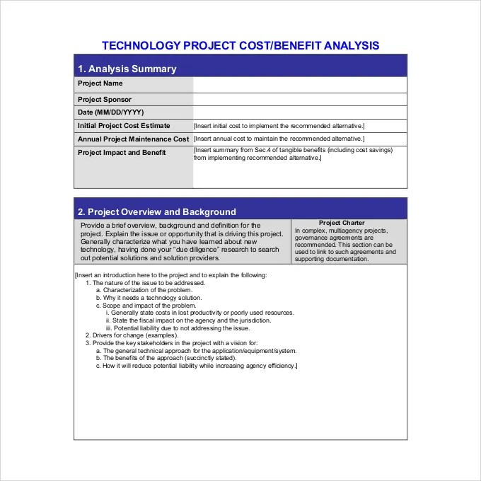 12+ Cost Benefit Analysis Templates - PDF, Word Free  Premium