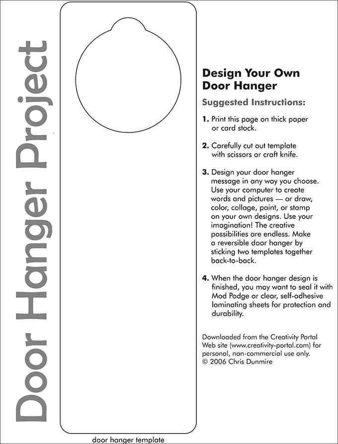 Restaurants Door Hanger Template Microsoft – Create Your Own Voucher Template