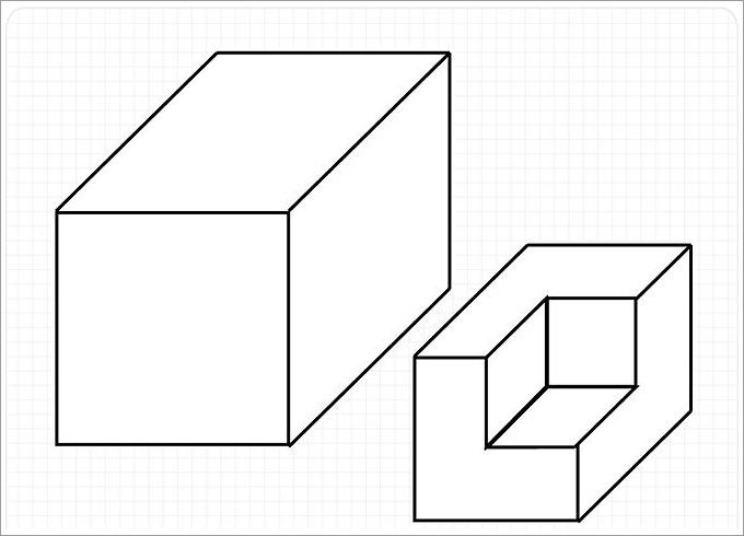 Cube Template, 3D Cube Template Free  Premium Templates