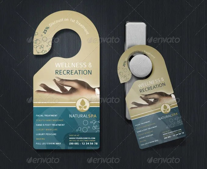 Door Hanger Template Free  Premium Templates - door hanger design template