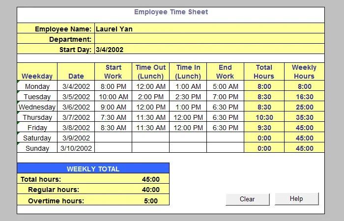 60+ Sample Timesheet Templates - PDF, DOC, Excel Free  Premium