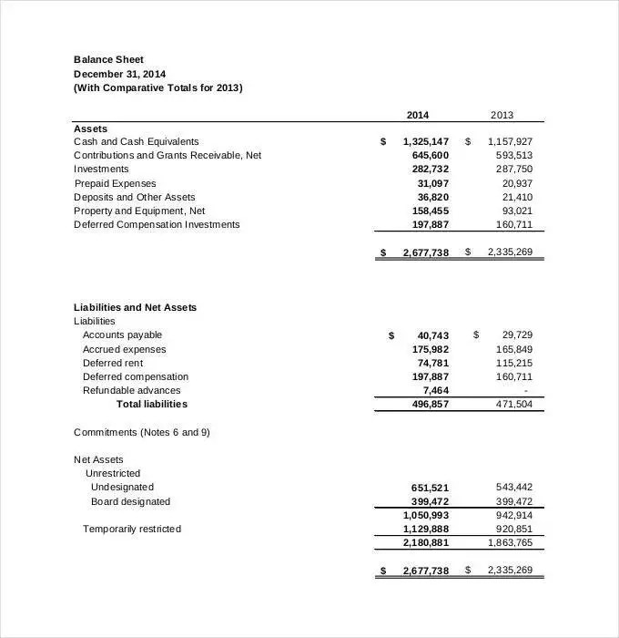 Financial Statement Template - 27+ Free PDF, Excel, Word Documents