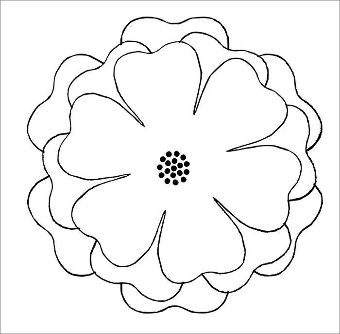 spring flower template printable