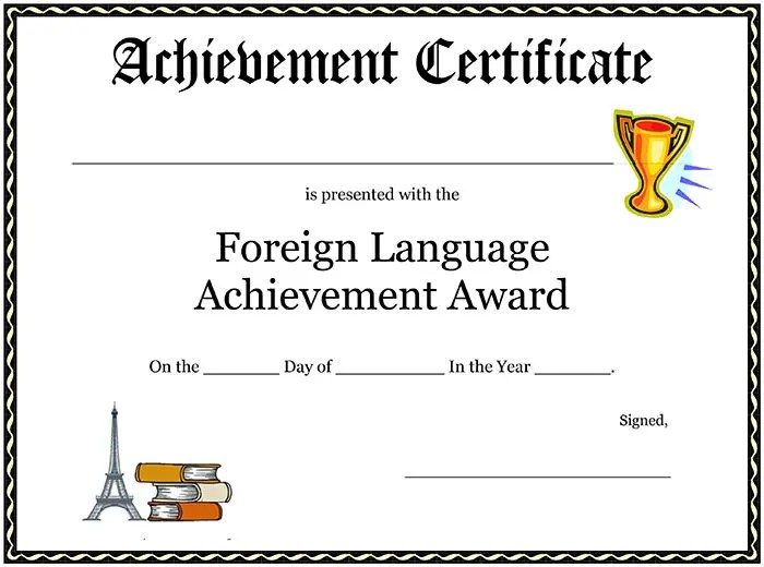 sample award certificates templates - free printable editable certificates