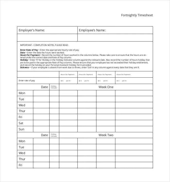 60+ Sample Timesheet Templates - PDF, DOC, Excel Free  Premium - timesheets sample