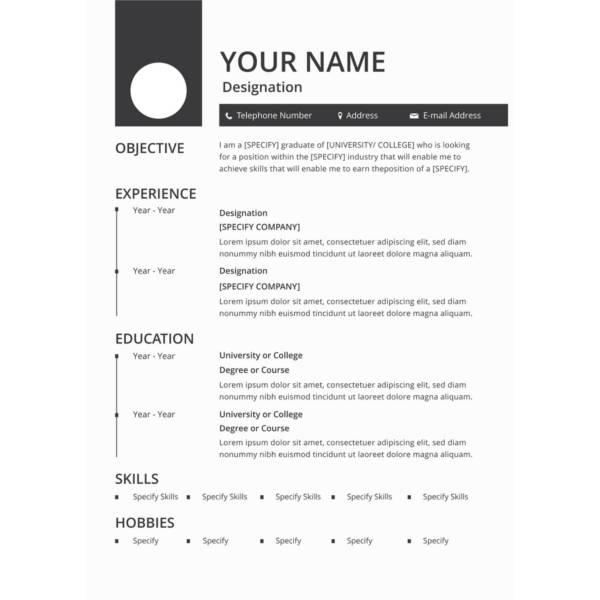best resume template free 2015