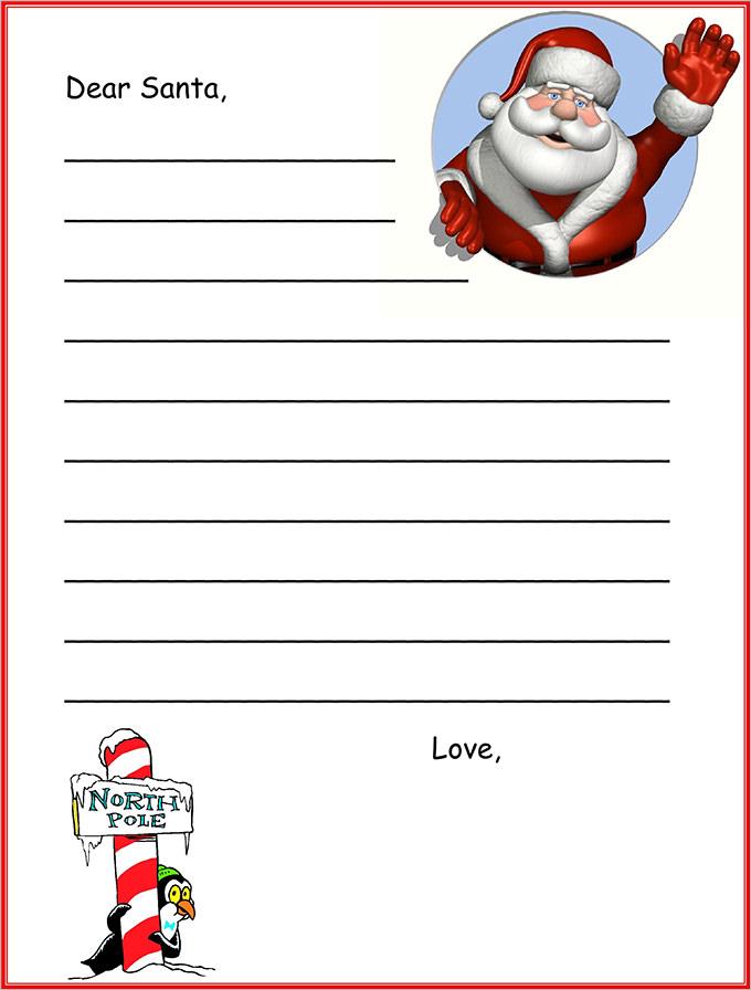 Santa Letter, Santa Letter Template Free  Premium Templates