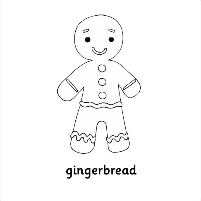 15+ GingerBread Man Templates  Colouring Pages Free  Premium
