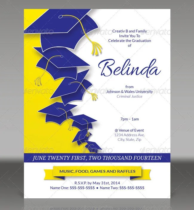 15+ Graduation Invitation Templates - Invitation Templates Free - flyer invitation templates free