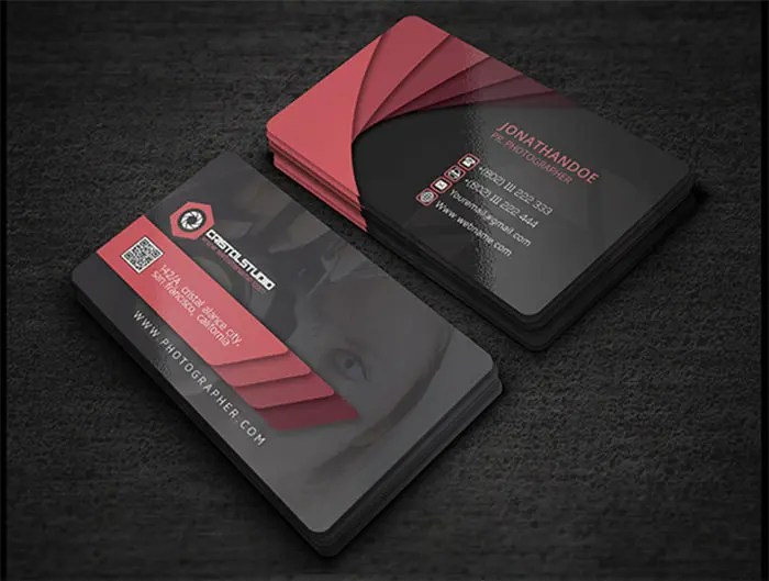 business card template photographer - Romeolandinez - card templates for pographers