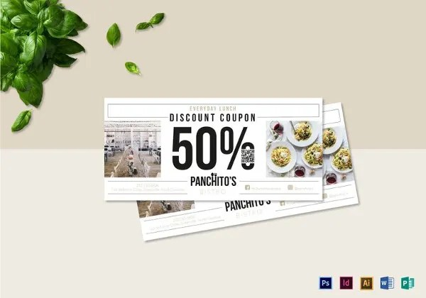 Blank Coupon Templates \u2013 24+ Free PSD, Word, EPS, JPEG Format - free lunch coupon template